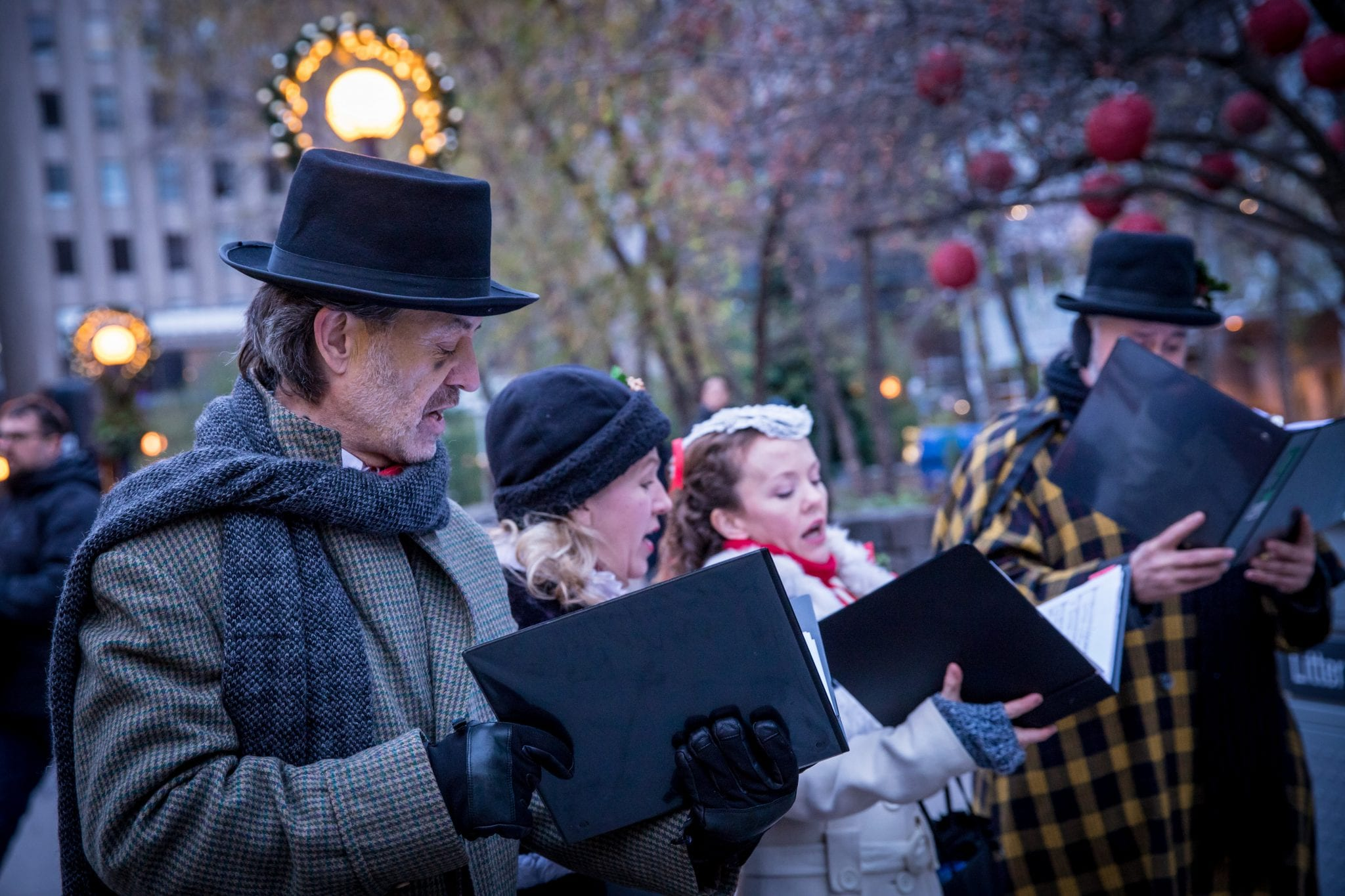 Traditional Carolers in Bloor-Yorkville Holiday Magic 2018