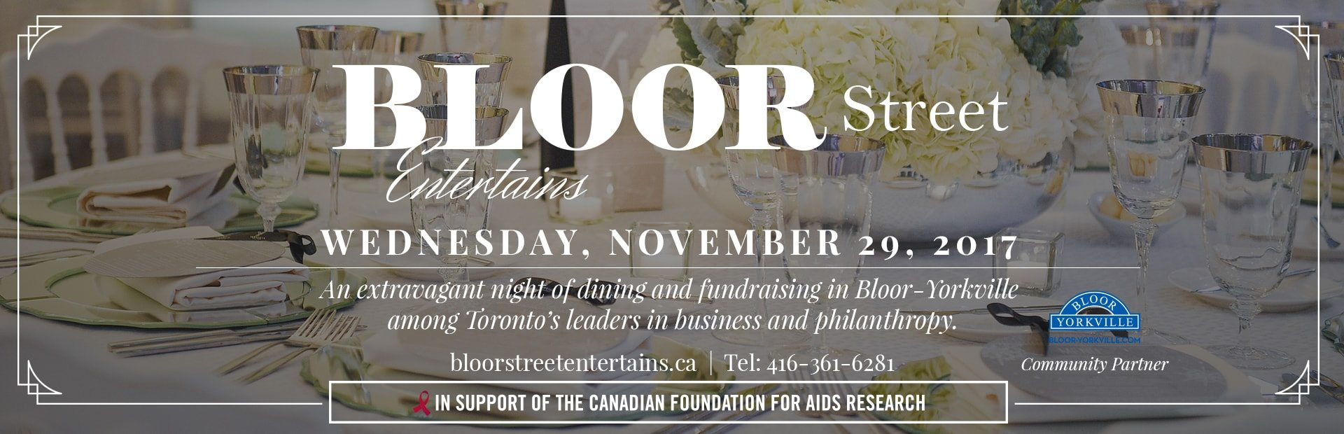 "CHANGE OF LOCATION: BLOOR STREET ENTERTAINS ""AFTER PARTY"" MOVES TO THE ICONIC FOUR SEASONS HOTEL"