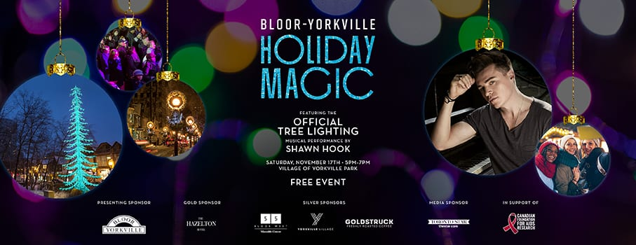 ANNOUNCING SHAWN HOOK AT BLOOR-YORKVILLE'S HOLIDAY MAGIC!