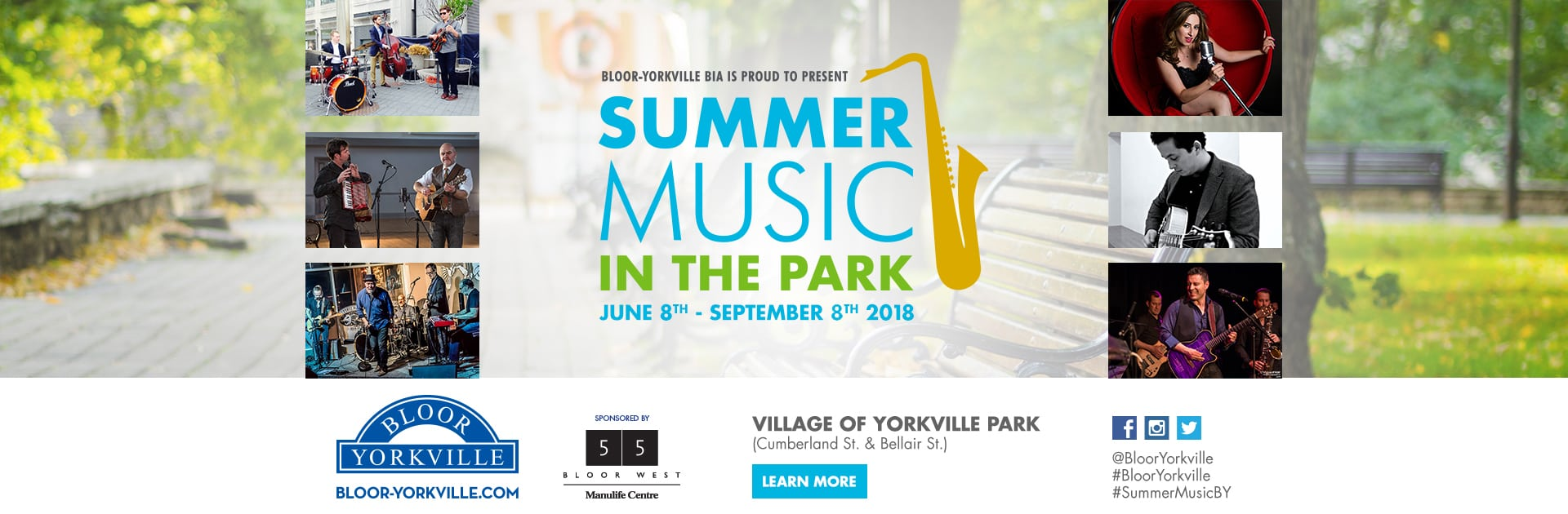Summer Music in the Park Continues until September 8th