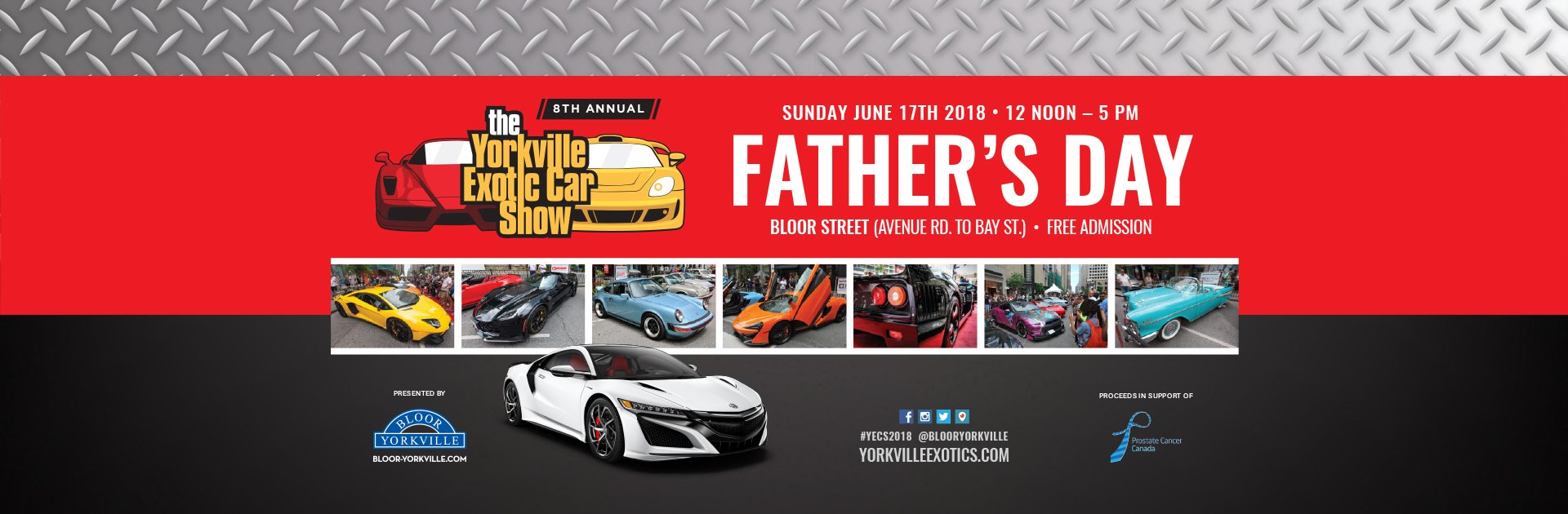 Celebrate Dad on Father's Day at the  Yorkville Exotic Car Show
