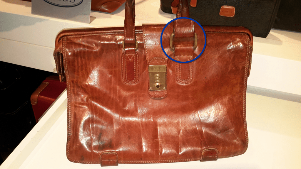 Image of a The Bridge briefcase purchased in 1980