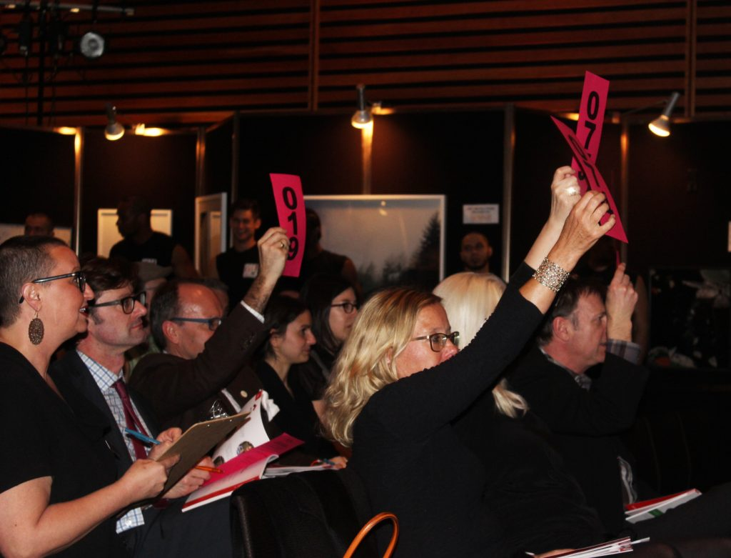 Guests bid in the Live Auction