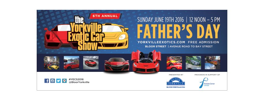6th Annual Yorkville Exotic Car Show Raises Record $55,000 for Prostate Cancer Canada!