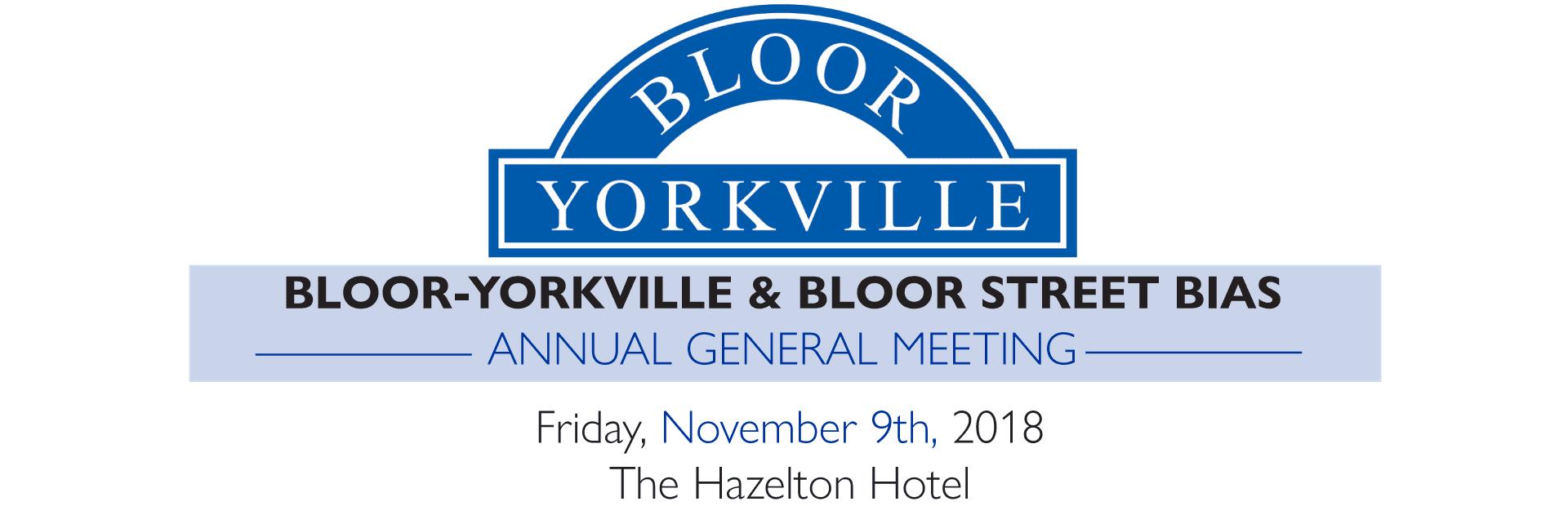 Reminder: Bloor-Yorkville & Bloor Street BIA's AGM!