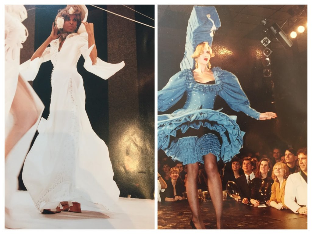Photo of Two dresses made by Pearl for an AIDS benefit