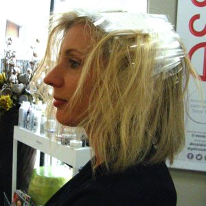 Biodegradable Beauty being used for highlights